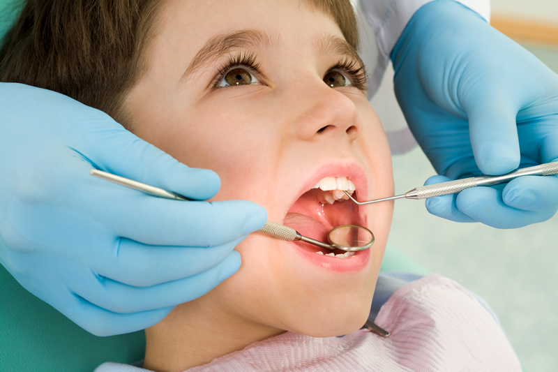 Children's Dentistry - Boy receiving checkup